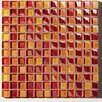 "Metallica 11.75"" x 11.75"" Glass Mosaic in Mix Metallica Arancio"
