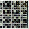 "Metallica 11-3/4"" x 11-3/4"" Glass Mosaic in Mix Metallica Grigio"