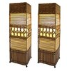 """Aspire Gretchen 22"""" H Table Lamp with Square Shade (Set of 2)"""