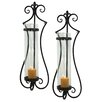 <strong>Aspire</strong> Rhodes Metal and Glass Sconce (Set of 2)
