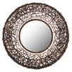 Aspire Benton Round Rattan Wall Mirror