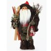 <strong>Roman, Inc.</strong> Woodsy Santa Figurine with Skis and Red Lantern