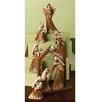 <strong>Roman, Inc.</strong> 8 Piece Leather Saint Nativity Set