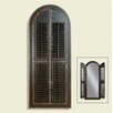 Arched Shutter Mirror - Rusticated Black