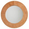 <strong>Cross Stitch Buff Leather Mirror</strong> by Jamie Young Company