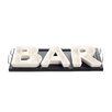 "Red Vanilla Vanilla Serve 13"" Bar Serving Dish with Wooden Serving Tray"