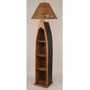 "Coast Lamp Mfg. Rustic Living Wooden Boat 65.5"" Floor Lamp"