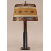 """Coast Lamp Mfg. Rustic Living Iron Rod 30"""" H Table Lamp with Drum Shade"""