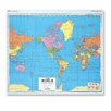 "Virco US/World Map (51"" x 51"")"