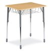 Virco Zuma Series Student Desk with Wire Book Basket