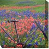 <strong>West of the Wind Outdoor Canvas Art</strong> Wheel in Field Photographic Print on Canvas