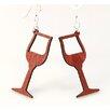 Green Tree Jewelry Wine Glass Earrings