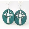 <strong>Green Tree Jewelry</strong> Celtic Cross Earrings
