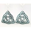 <strong>Green Tree Jewelry</strong> Trinity Knot Earrings