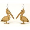 Green Tree Jewelry Pelican Earrings