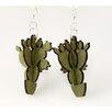 Green Tree Jewelry 3-D Barrel Cactus Earrings
