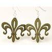 Green Tree Jewelry Fleur de Lis Earrings