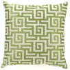 <strong>D.L. Rhein</strong> Greek Key Down Filled Embroidered Linen Pillow