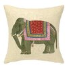 D.L. Rhein Punjabi Elephant Embroidered Decorative Pillow
