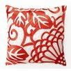 D.L. Rhein Chrysanthemum Down Filled Embroidered Linen Pillow