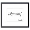 <strong>Barewalls</strong> The Dog by Pablo Picasso Framed Painting Print