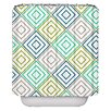 Elisabeth Michael Diamonds Pellerina Designs Polyester Shower Curtain