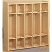 TotMate 2000 Series 5-Section Cubbie Preschool Locker