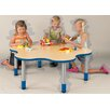 "TotMate ""My Place"" Activity Round Geometric Classroom Table"