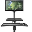 Balt Up-Rite Desk with Mounted Sit/Stand Workstation