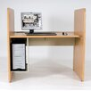 CPU Holder Teak H Carrel Study Desk