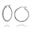 <strong>Moise</strong> Classic Textured Hoop Earrings