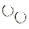 <strong>Moise</strong> Round Cut Cubic Zirconia Hoop Earrings