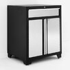 "NewAge Products Pro Stainless Steel 34.5"" H x 28"" W x 24"" D 1 Drawer 2 Door Base Cabinet"