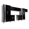 NewAge Products Performance Plus Series 7' H x 15' W x 2' D 9 Piece Cabinet Set