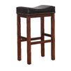 """American Woodcrafters Jasper Saddle 26"""" Bar Stool with Cushion"""