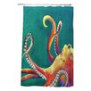 DENY Designs Clara Nilles Woven Polyester Mardi Gras Octopus Shower Curtain