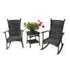 Tortuga Outdoor Portside 3 Piece Rocker Seating Group with Cushions