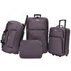 Traveler's Choice Versatile 4 Piece Rolling Luggage Set in Grey