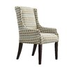 Kingstown Home Mandala Diamond Impressions Print Sloped Arm Chair