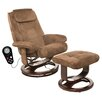 Comfort Products Walter Leisure Reclining Heated Massage Chair with Ottoman