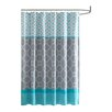 Intelligent Design Clara Microfiber Printed Shower Curtain