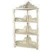 Papa Theo 3 Tier Corner Shelf in Antique White