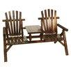 American Furniture Classics Log 2 Seat Fir Wood Garden Bench