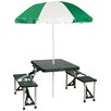 Stansport Picnic Table & Umbrella Combo Pack