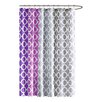 90° by Design Lab Dani Polyester Printed Shower Curtain and Hook Set