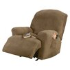 Sure-Fit Stretch Pique Recliner T-Cushion Slipcover