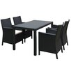 Compamia California Wickerlook 5 Piece Dining Set