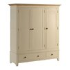 Rustic Retreat Sandtoft Painted Ash and Pine 3 Door Combination Wardrobe