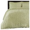 LaMont Arianna Chenille Bedspread Set in Honeydew