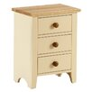 AlpenHome Solst Painted 3 Drawer Bedside Table
